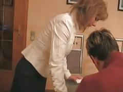 Milf and young boy fuck