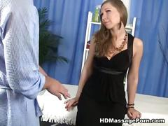 Pussy massage with stiff cock