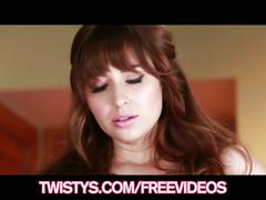 Cute teen brunette shay laren plays with her natural-tits
