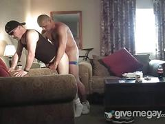 Daddy knows how to fuck hard his juinor's ass.