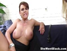 Daughter watches as her mom fucks a black cock