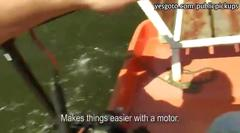 Busty amateur on a boat payed and fucked with a hard...