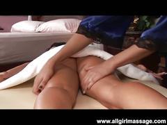 Massage & dildo fuck of lesbians briana and loni