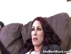 Big boob milf fucks 2 black cocks