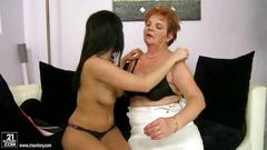 Teen fucking ugly fat granny with strapon