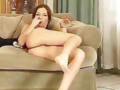 Florina rose masturbates in yoga pants