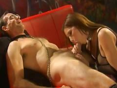 bdsm, brunette, femdom, hardcore, pussy, stockings, beef curtains, bondage, brown hair, doggy style, female domination, leather, missionary, mistress, shaved pussy, slave, tights, torture