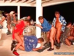 Crazy gang bang gay party boys.