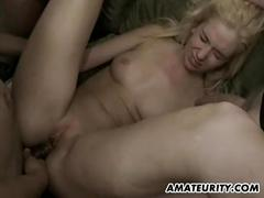 Amateur gf groupsex with anal and facials