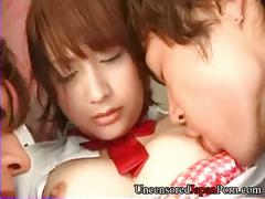 Uncensored - shaved japanese teen fundeled