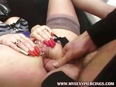 Heavy pierced pussy milf eva anal pounding