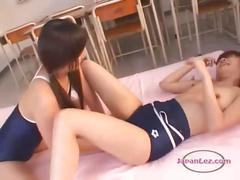 Schoolgirl getting her nipples sucked pussy licked...