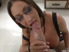 British slut emma b fucked in a busty ffm threesome