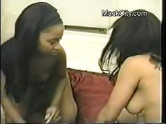 Real amateur ghetto lesbians eating pussy and dildo fucking.