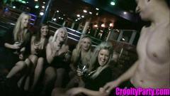 Sexy bar stars sucking cock in the club