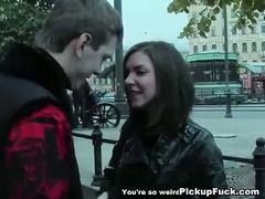 Real public sex with a stunning brunette
