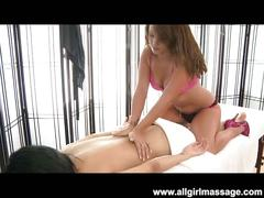 All girl massage turned in to hot lesbian fucking