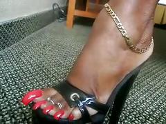 My very long toenails 2