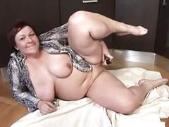 Bbw mature in the kitchen