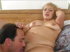 Blonde bbw assfucked big boobs and suck