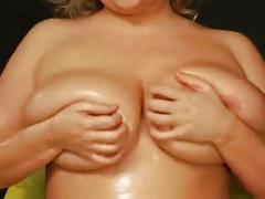 Solo chubby girl and big tits