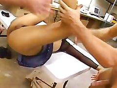 Amateur asian broken in
