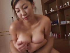 Seri ishiguro shows off her big boobs