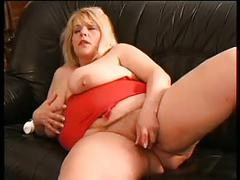 Sexy mom 59 bbw blonde mature masturbation
