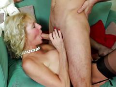 Old mom with hot body fucked by toy boy