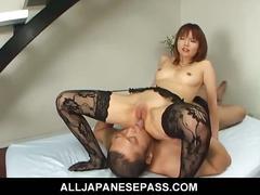 Adorable himena ebihara black lingerie fucked hard