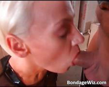bdsm, blonde, blowjob, bondage, fetish, penis-sucking