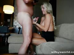 Sexy big tits wifey knows how to satisfy her man