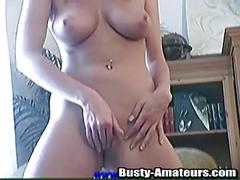 Lisa touches pussy until it oozes with cum