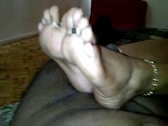 Young indian footjob heeljob