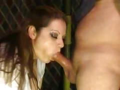 Milf gagging on cock