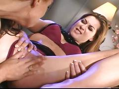 Young and mature lesbians in love