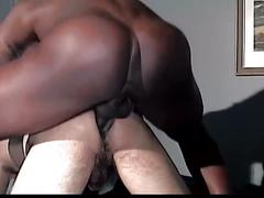 Monster black cock stuffing tight latino gay hole