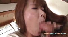 Milf giving blowjob for young guy fingered in the roo