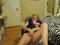 Hot & horny 56 year old milf masturbating and smoking