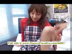 Japanese av model goes for a cock ride