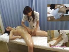 Busty asian girl massaged getting her pussy rubbed...