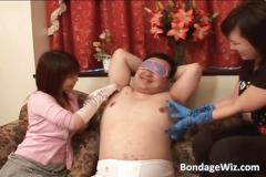 Asian sluts having bondage fun
