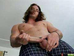 Long haired hunk kip johnson solo show