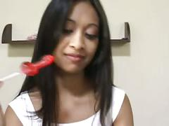 Asian kina kai gives her candy