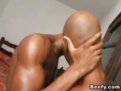 Beefy gays bedroom fuck