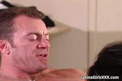 Latina sweetheart sucks big cock until