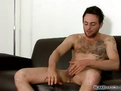 Amateur hairy chest stud riley tess solo jerk show