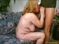 Slutty old daniela seduces a younger cock