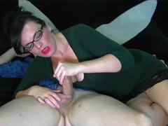Hot wife handjob