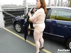 Bbw oudoor big tits